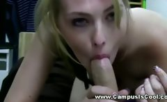 Dorm room party turns sexual quickly and the girls suck cock