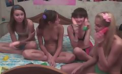 Four russian babysitters in live show