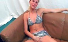 Horny chick sucks cock gets fucked