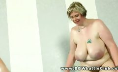 Plumper bbws wrestle each other and really want cock