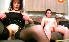 Slutty mature brunette gets hairy pussy