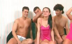 Amazing bedroom group sex party