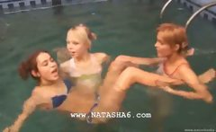 Three lithuanian teenies in the pool
