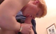 Slutty mature blonde gets wet pussy