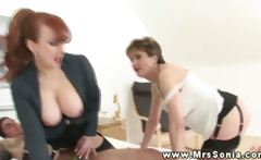 Lady Sonia makes it a celebration of their horny threesome