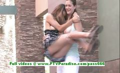 Emily and Danielle adorable lesbian teenages public