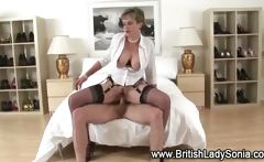 Cock hungry Lady Sonia fucked