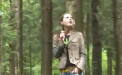 Adventure blowjob in the forest