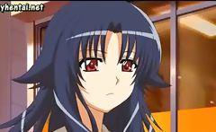 Anime lesbians enjoying dildos