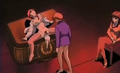 Hentai masturbating with a dildo