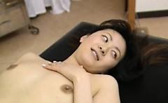 Hairy amateur student having massage