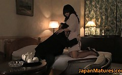Hot slut Rumi Kazama sucks and fucks