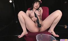 Hina Maeda Masturbates And Has Three Guys Cum For Her