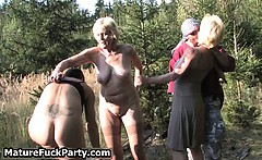 Group of horny old having sex