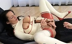 Awesome Breasts Soothing Latex Girl Extreme Sex