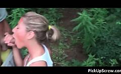 Skinny babe in public sex video 79