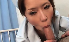Hot jap stockinged nurse bald pussy nailed by lucky patient