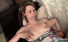 Sexy Harley Fingering Her Pussy And Ass