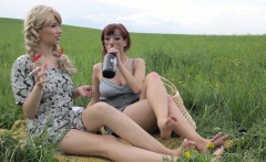 CZECH LESBIAN ADVENTURE IN COUNTRYSIDE WITH BONUS