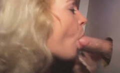 Blonde MILF Taking Cumshot On Her Tits At Glory Hole