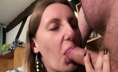 Emy analfucked in stockings by old guy