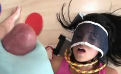 Naughty Girl In Bondage Maya Bazin Gets A Facial