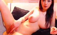 Big Tit College Teen Rubs Pussy on Webcam - Cams69.net