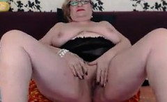 Large Granny Teasing Her Body