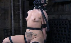 Girl with Gas Mask in Terrifying BDSM!