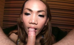 Teen ladyboy from Thailand blowjob and anal fucking