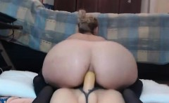 Sexy MILF Fucking Dildo on Webcam