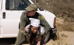 Hot latina arrested and fucked by BP officer outdoors