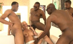 Group of black boners DP busty blonde ho Holly Heart