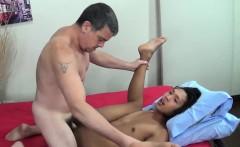 Top daddy barebacking asian twink