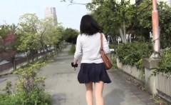 Oriental slut pee public
