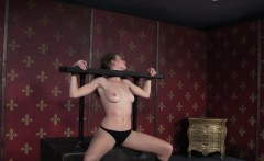 Whipped clitpierced submissive anal punished