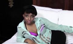 Ebony teen face creamed