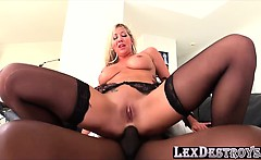 British and blonde Lexi Lowe gets her pussy fucked by Lex