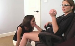 Wicked nymphos screw the biggest strap dildos and spray load