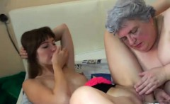 Fat Granny Enjoys A Petite Teen
