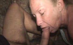 Wrinkled Up Blonde Street Whore Sucking Dick For Dollars