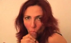 Redhead MILF gets a mouthwash that is filthy