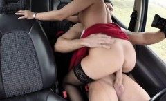Hot and brunette Vicky Love pays a stranger an outdoor sex