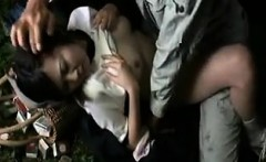 Cute Asian girl with big tits gets treated like a slut by a