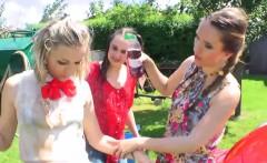 European Lesbians Have Some Outdoor Fun