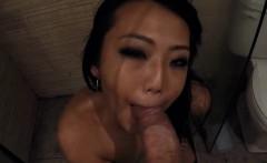 Horney Asian Slut Sucks Dick In Bathroom Miko Dai