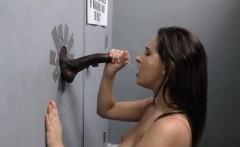 Ashley Adams Sucks Off Black Cock - Gloryhole
