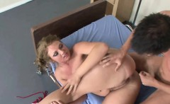 Curvy slut Ava Rose shows off her big ass while she lets