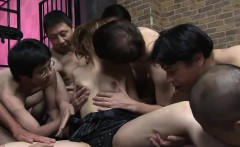 Asian filly gets nailed in a gangbang