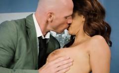 Hot Secretary Isis Love Secretly Blows Hung Boss